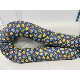 """Подушка для беременных большая """"Макси"""" синяя/история игрушек"""