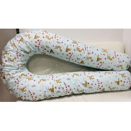 """Подушка для беременных большая """"Макси"""" U-350 голубая/оленята"""