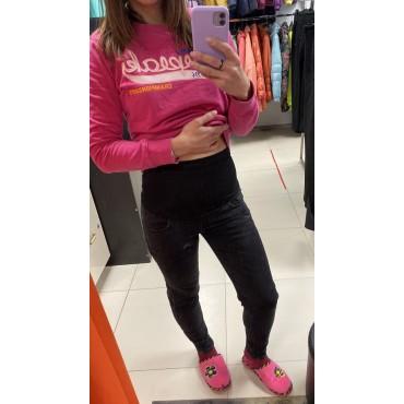 """Утепленные джинсы для беременных """"5006"""" серые"""