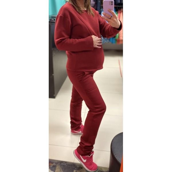 """Костюм утепленный для беременных и кормящих мам """"904"""" бордо"""