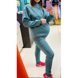 """Костюм утепленный для беременных и кормящих мам """"038"""" зеленый"""