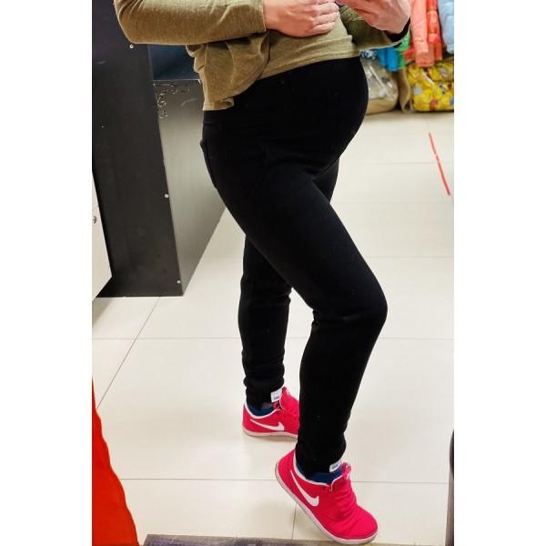 """Брюки утепленные для беременных """"025"""" черные"""