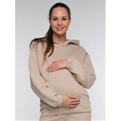 """Толстовка для беременных и кормящих  """"434"""" цвет бежевый"""
