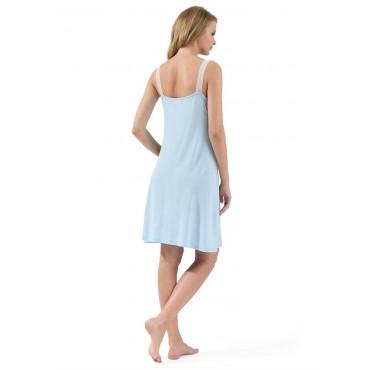 """Ночная сорочка для беременных и кормящих """"Энрика"""" голубая"""