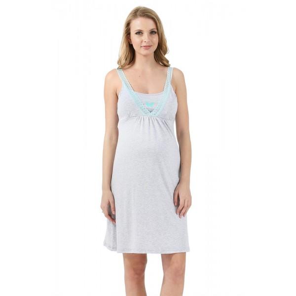 """Ночная сорочка для беременных и кормящих """"Энрика"""" меланж"""