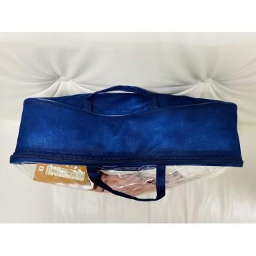 Сумка в роддом большая синяя прозрач/синий спандбонд 40*50*12 см