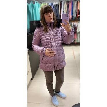 """Куртка для беременных зимняя """"928"""" сирень"""