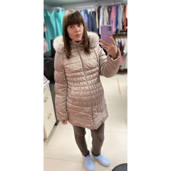 "Куртка для беременных зимняя ""929"" беж"