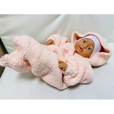 Комбинезон для новрожденных из плюша