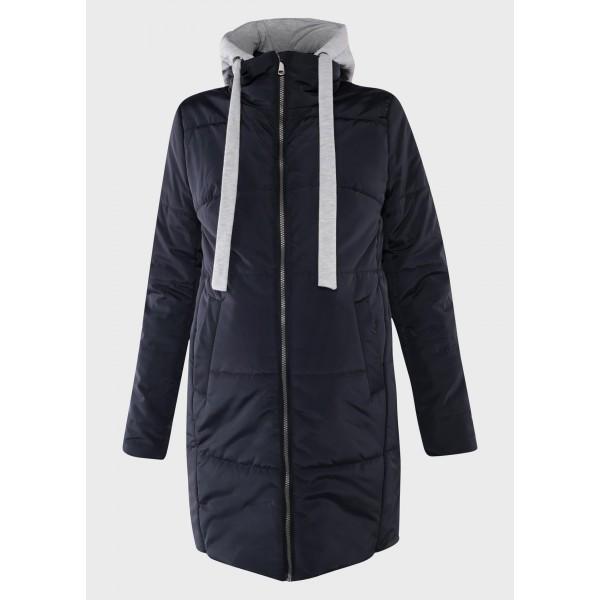 Куртка для беременных демисезонная темно-синяя