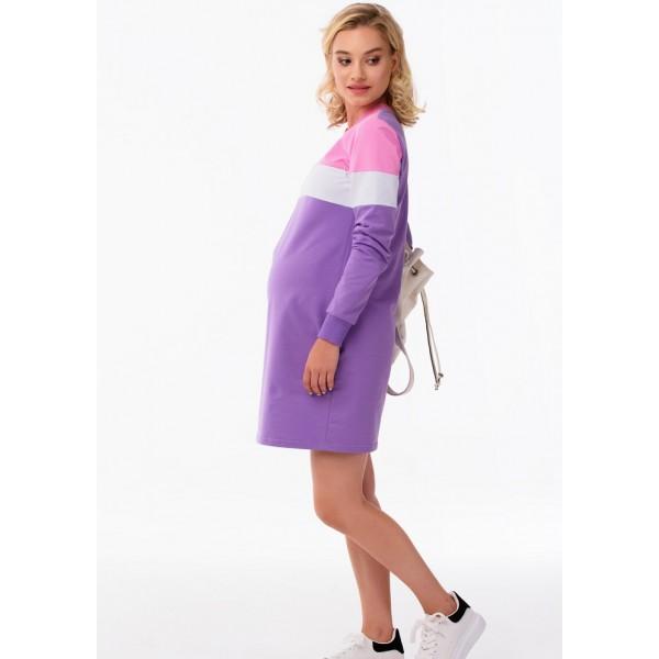 Спортивное платье для беременных Триколор