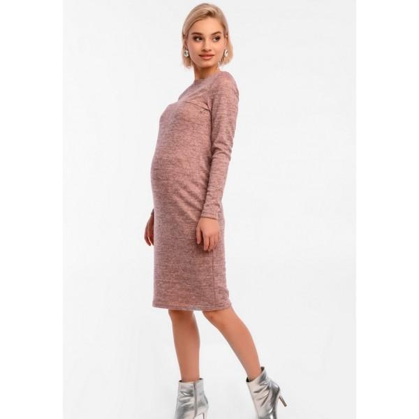 Платье для беременных и кормящих прямого силуэта розовое
