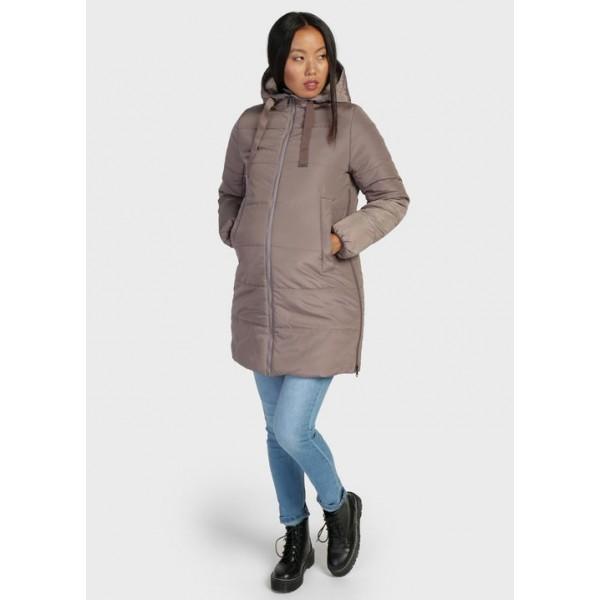 Куртка для беременных зимняя кофейный +слингоношение