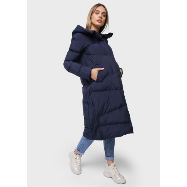 Куртка для беременных зимняя Темно-синяя 2в1