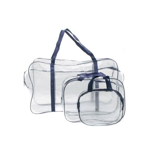 Набор сумок в роддом темно-синий (3 шт)