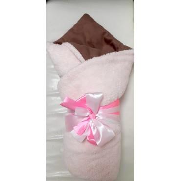 """Одеяло весеннее на выписку """"Малыш"""" беж/роз бант"""