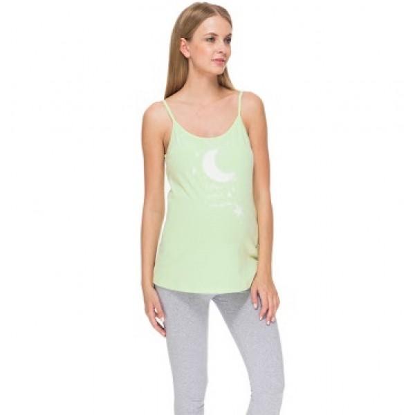 Пижама для беременных с лосинами Лоя лайм/серый