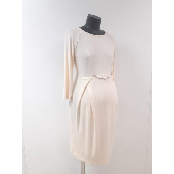 Молочное платье для беременных тонкий трикотаж