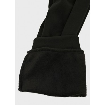 Зимние спортивные брюки с начесом для беременных, черные