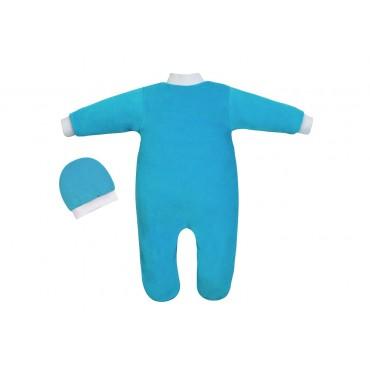 Комбинезон для новорожденного и шапочка
