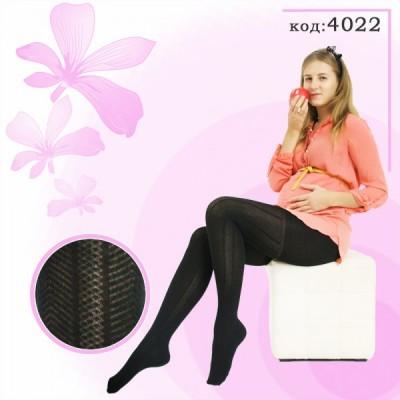 Колготки для беременных 300den рисунок Елочка