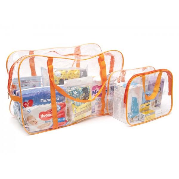 Набор сумок в роддом оранжевый (2 шт)