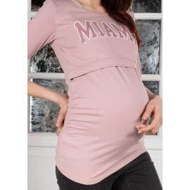 Лонгслив для беременных и кормящих пудра