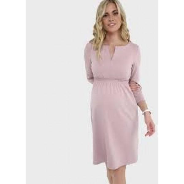 Летнее платье для беременных пудра с секретом для кормления грудью