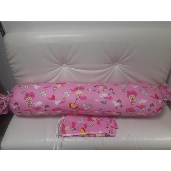 Подушка для беременных прямой валик розовая