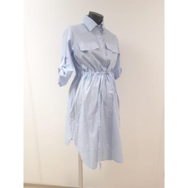 Платье-рубашка для беременных в полоску
