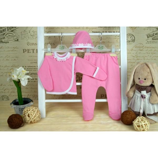 """Комплект для новорожденных """"3 предмета"""" розовый"""