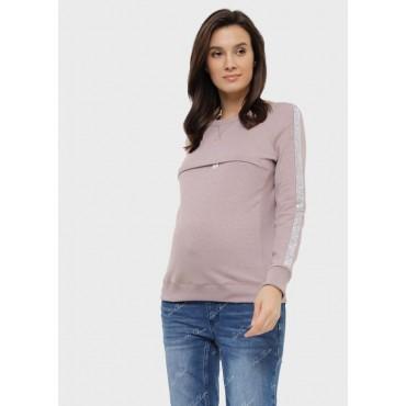 Туника для беременных и кормящих синяя