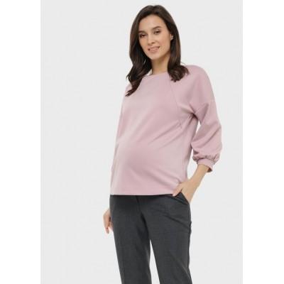 Джемпер для беременных и кормящих пэрис цвет пудра