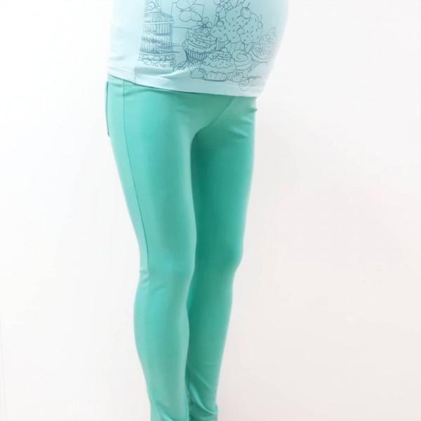 Брюки для беременных мятного цвета для йоги, для дома