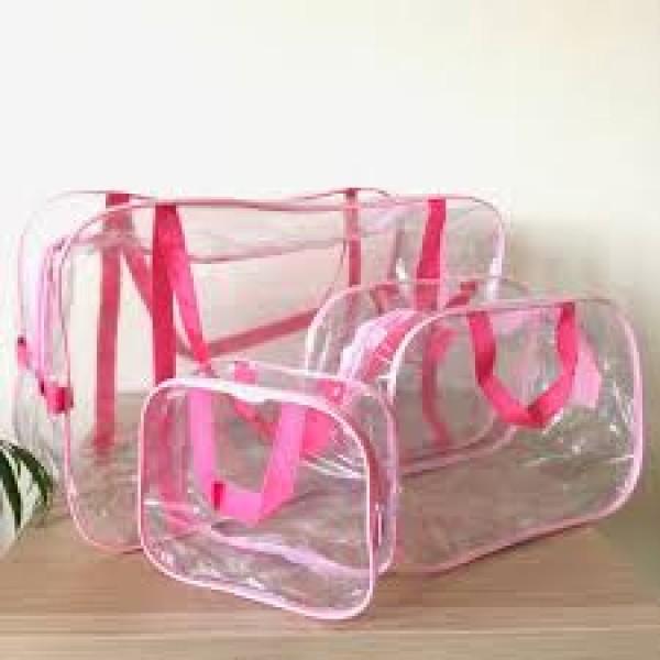 Набор сумок в роддом розовый (3 шт)