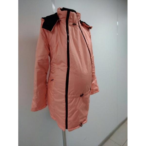 """Куртка демис. """"Хельга"""" 2в1 персик"""