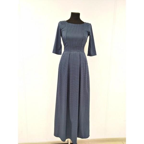 """Платье """"Горох"""" Т.синие для кормл."""