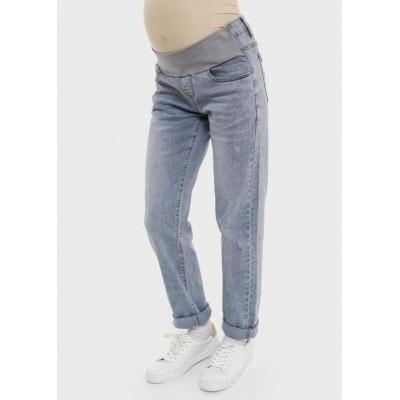Летние джинсы для беременных светлый деним
