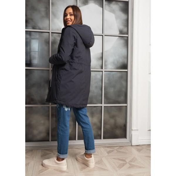 Куртка для беременных демисезонная Парка темно-синяя