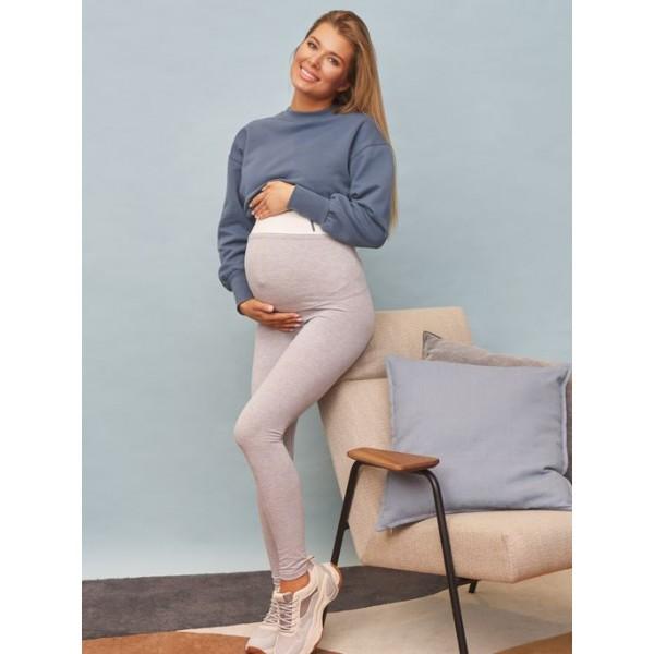 Лосины для беременных серые