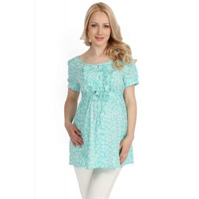 Блуза мятная для беременных и кормящих