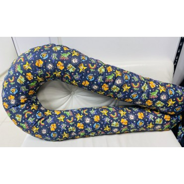 """Подушка для беременных большая """"Макси"""" U-350 синяя/история игрушек"""