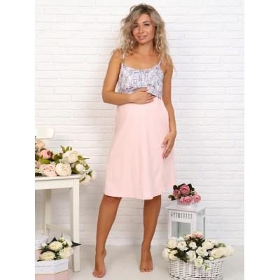 Сорочка в роддом для беременных и кормящих розовая