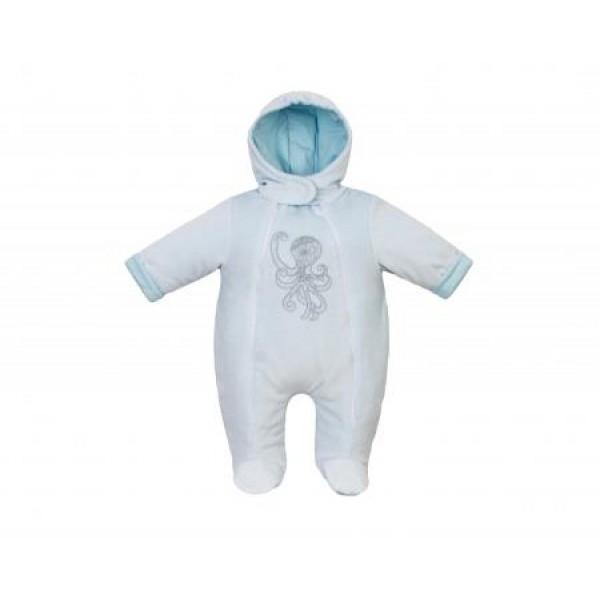 Комбинезон для новорожденных утепленный Голубой