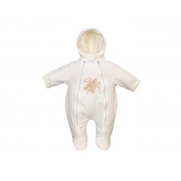 Комбинезон для новорожденных утепленный Молочный