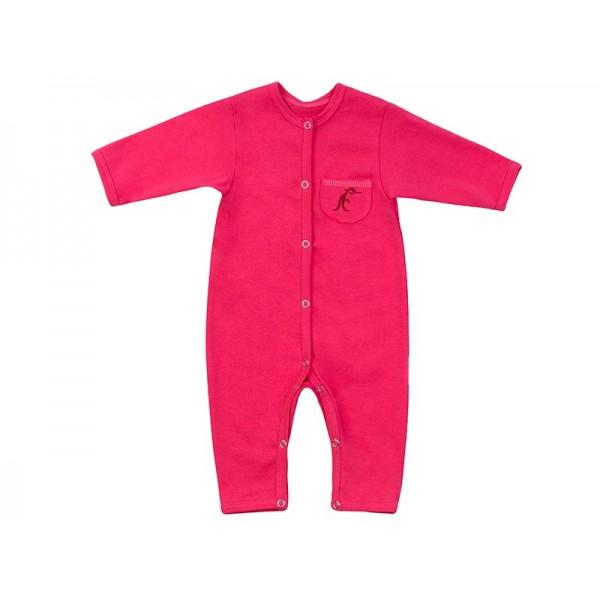 Комбинезон для новорожденных хлопковый розовый