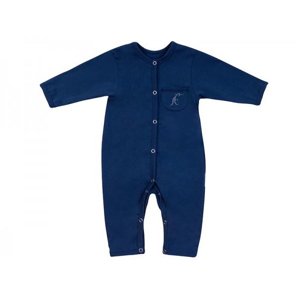 Комбинезон для новорожденных хлопковый темно-синий