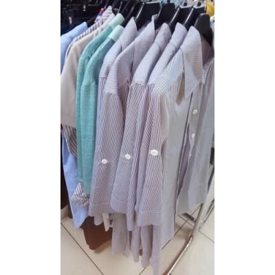 Рубашка в полоску бело-голубая для беременных