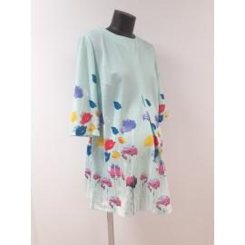 Летнее платье-туника для беременных мятное