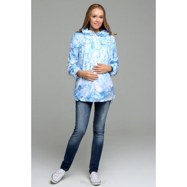 Ветровка для беременных Флавия голубая